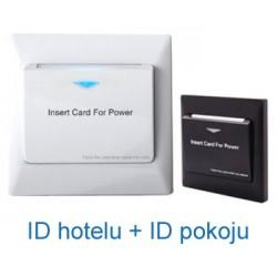 Hotelowy wyłącznik prądu Mifare S2 (ID Hotelu + ID Pokoju)